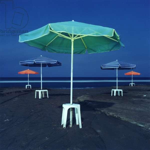 Umbrella #2, Amoudara, Heraklion, Greece, 2002 (photo)