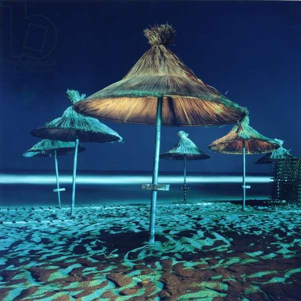 Umbrella # 4, Amoudara, Heraklion, Greece, 2002 (photo)