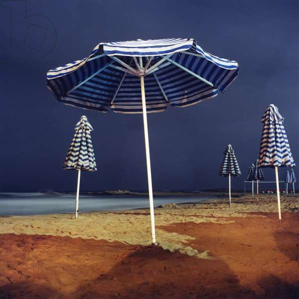 Umbrella #9, Kokini Chani, Crete, Greece, 2002 (photo)