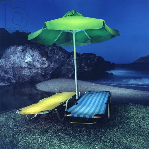 Umbrella # 11, Plakias, Crete, Greece, 2002 (photo)