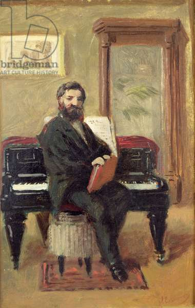 Claude Achille Debussy (1862-1918) at his Piano