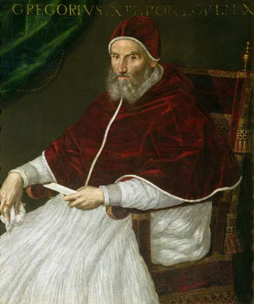 Portrait of Pope Gregory XIII (Ugo Buoncompagni) (1502-85) (oil on canvas)