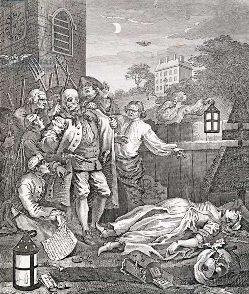 """Cruelty in Perfection, from """"The Four Stages of Cruelty"""", 1751 (engraving)"""
