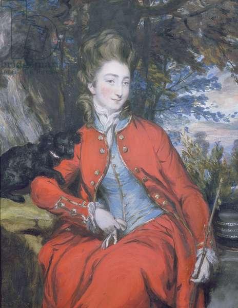Elizabeth (1755-1806) Lady Bridgeman (pastel) (see 239433 for pair)