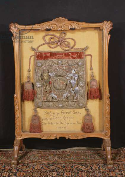 The Bag of the Great Seal, held by the Lord Keeper, Sir Orlando Bridgeman (1667-72)