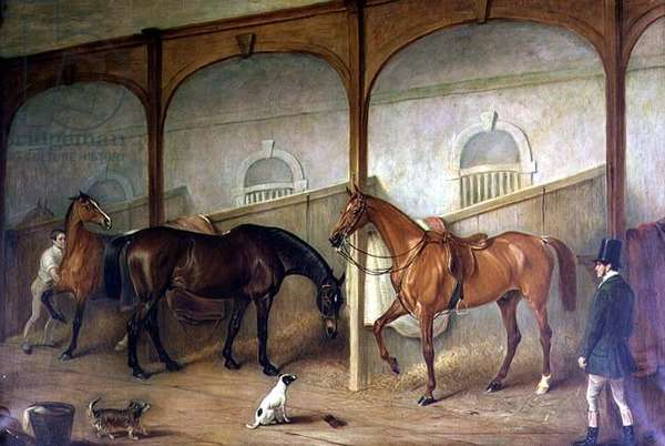 Stable Interior (oil on canvas)