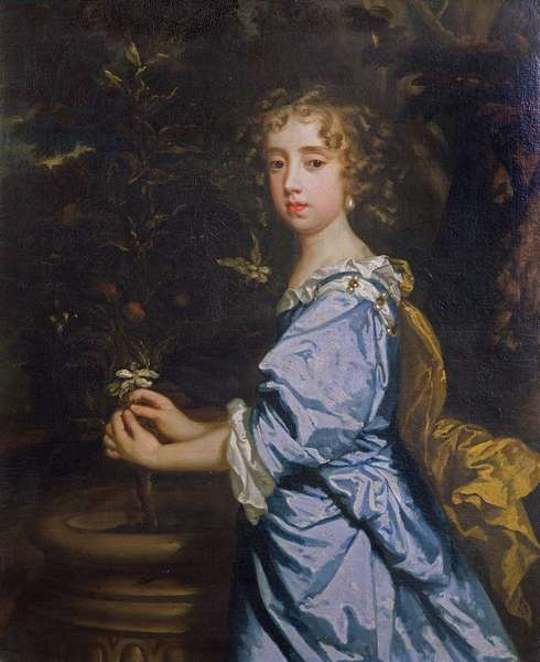 Isabella Dormer, aged 8, later Countess of Mountrath (oil on canvas)