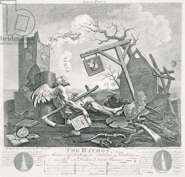 Bathos, Manner of Sinking, in Sublime Paintings inscribed to the Dealers in Dark Pictures, 1764 (etching and engraving)