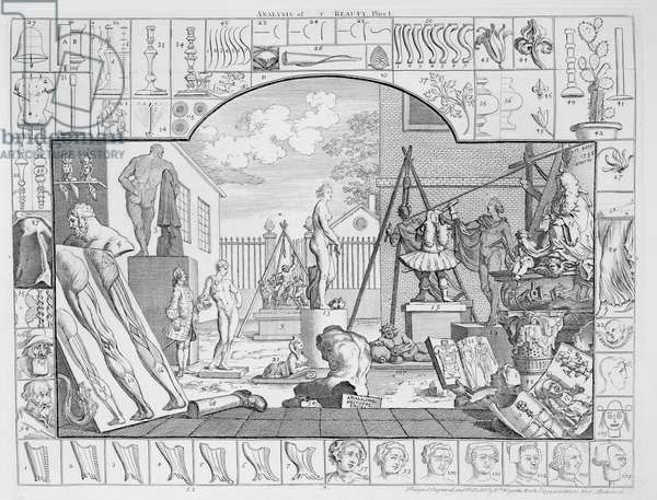Analysis of Beauty, Plate 1, 1753 (engraving)