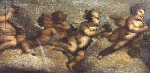 Putti disporting (paper on canvas) (left-hand detail) (see also 67087-90)