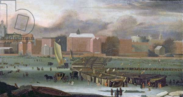 A Frost Fair on the Thames at Temple Stairs, c.1684 (oil on panel)