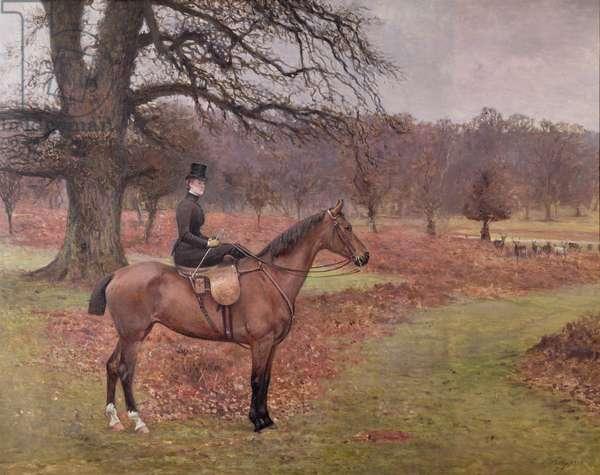 "Lady Mabel Bridgeman on ""Claribel"", 1885"