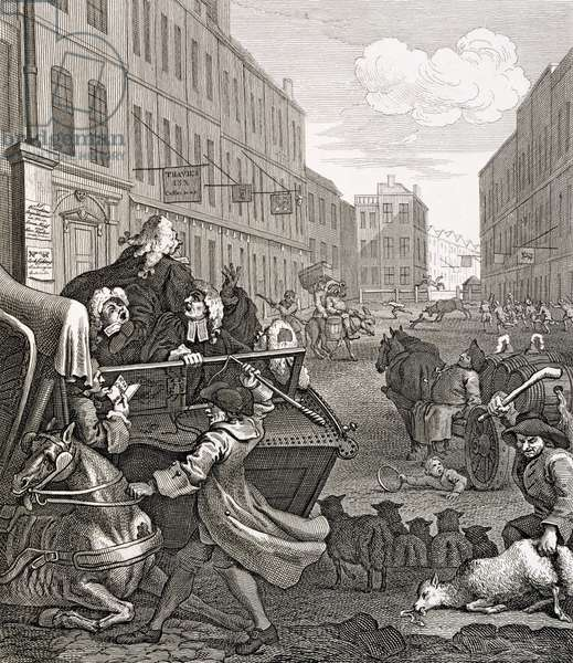 Second stage of Cruelty, 1751 (engraving)