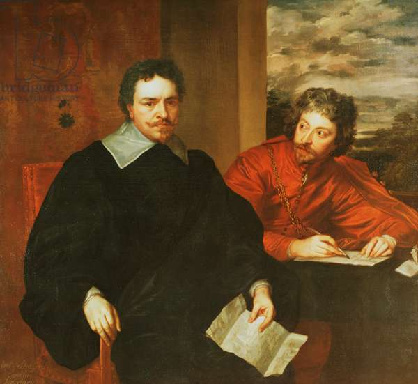 Thomas Wentworth, Earl of Strafford (1593-1641) and his Secretary, Sir Philip Mainwaring (1589-1661) 1640 (oil on canvas) (for original see 91603)