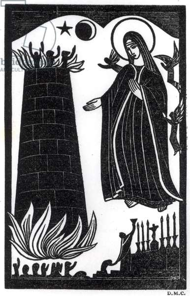 Purgatory, illustration for St. Dominic's Press Publications, 1919 (wood engraving)