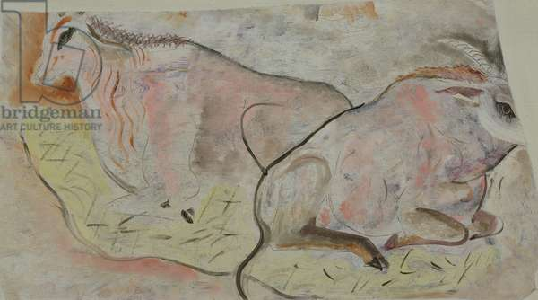 Two antelopes, c.1930 (oil on canvas)