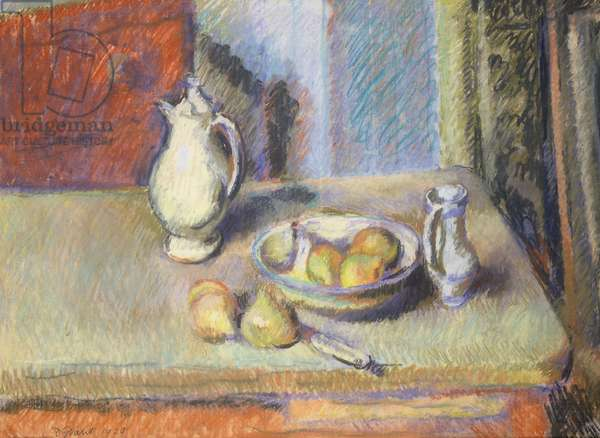 Still life with Pears, 1929 (pastel)