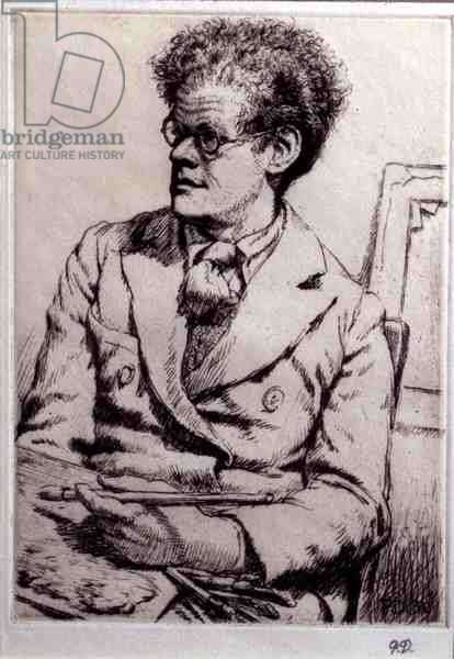 Portrait of Carel Weight (1909-97) 1938-39 (etching)