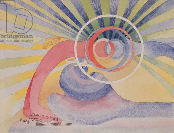 Le retour, 1919 (w/c on paper)