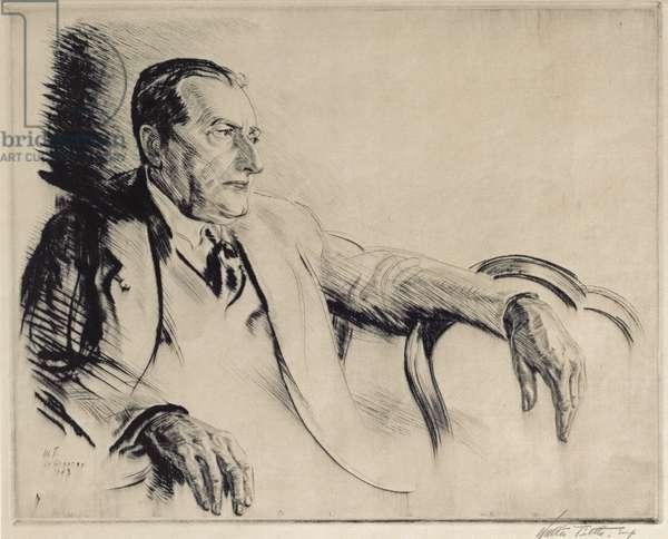 Portrait of Jean-Louis Forain (1852-1931) 1923 (drypoint)