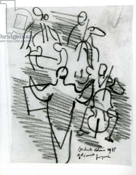 Orchestre Colonne, 1935 (pencil)