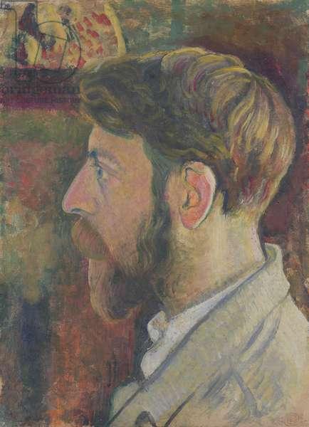 Autoportrait de profil, c.1900-05 (oil on paper)