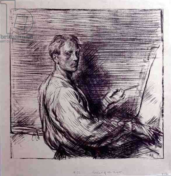 Portrait of the Artist, 1905 (litho on olive-tinted wove paper)