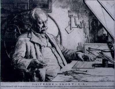 Portrait of Sir Frank Short (1857-1945) 1934 (drypoint)