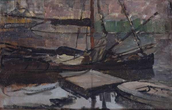 Stadhouderskade near the Amsterdam House of Detention, 1899-1900 (oil on canvas)