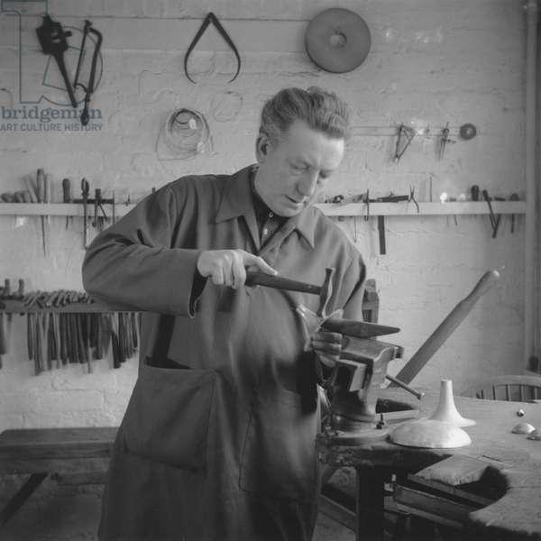 Portrait of Dunstan Pruden, UK, 1950s (b/w photo)
