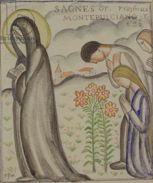 Saint Agnes of Montepulciano, 1922 (w/c)