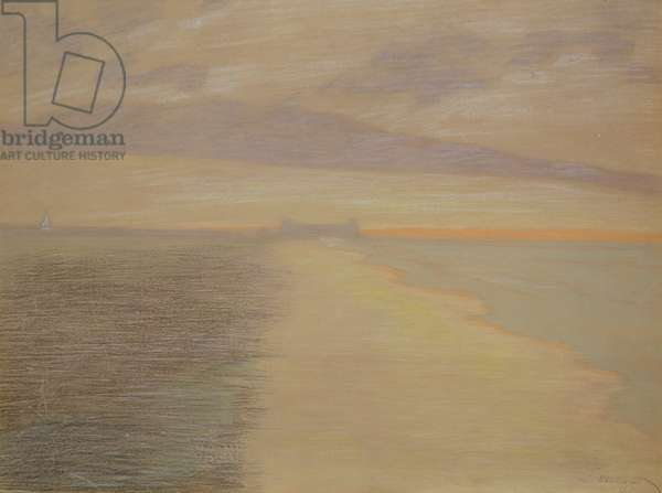 Crepuscule marin a Ostend, 1917 (pastel on paper)