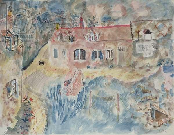 Pigotts farmyard, 1930 (pencil, w/c & bodycolour)