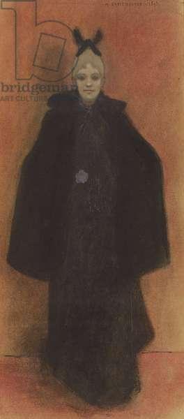 Elégante debout, 1893 (gouache & pastel)