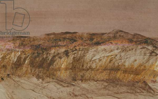 Landscape, 1968 (oil & ripolin on paper)