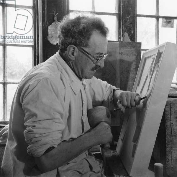 Portrait of Joseph Cribb, UK, 1950s (b/w photo)