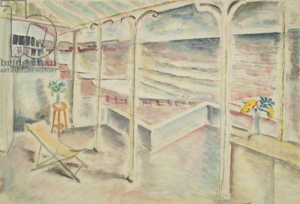 Terrace, Portslade, 1927 (w/c over pencil)