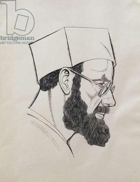 Self Portrait, 1927 (wood engraving)