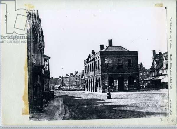 The Butter Cross, Wisbech, 1856 (b/w photo)
