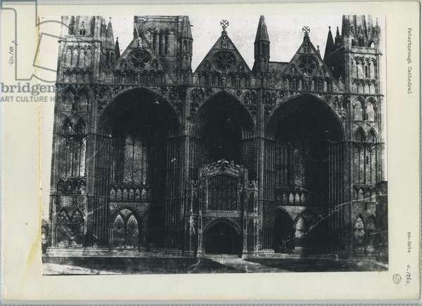 Peterborough Cathedral, c.1860 (b/w photo)