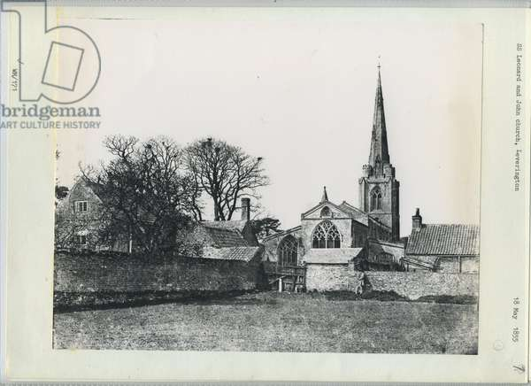 Saints Leonard and John Church, Leverington, 1855 (b/w photo)