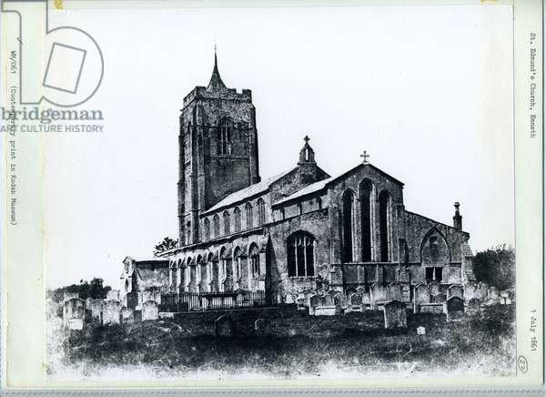 St. Edmund's Church, Emneth, 1861 (b/w photo)