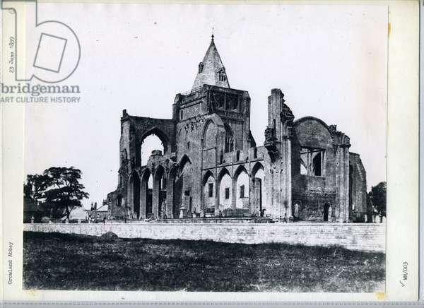 Crowland Abbey, 1859 (b/w photo)