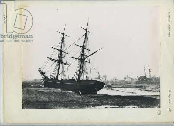 River Nene, Wisbech, c.1855 (b/w photo)