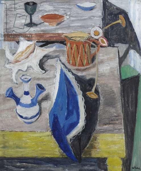 The Blue Cloth (oil on canvas)