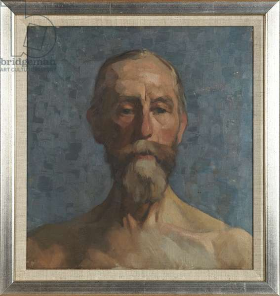 Head and Shoulders of a Bearded Man, c.1921-23 (oil on canvas)