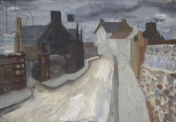 Restalrig Village, c.1929 (oil on canvas)