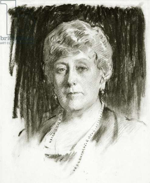 H.R.H. Princess Beatrice, 1920 (charcoal & pencil on paper)