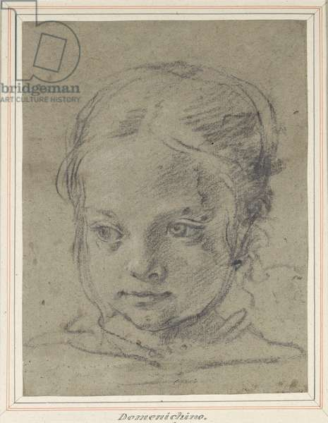 Head of a girl (black chalk on paper)