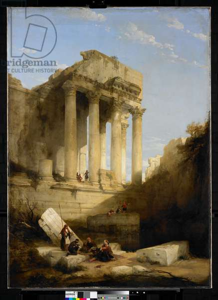 Baalbec, Ruins of The Temple of Bacchus, 1840 (oil on canvas)